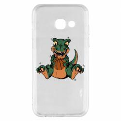 Чехол для Samsung A3 2017 Dinosaur and basketball
