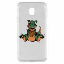 Чехол для Samsung J3 2017 Dinosaur and basketball