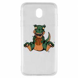 Чехол для Samsung J7 2017 Dinosaur and basketball