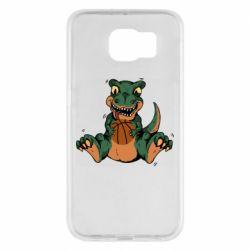Чехол для Samsung S6 Dinosaur and basketball