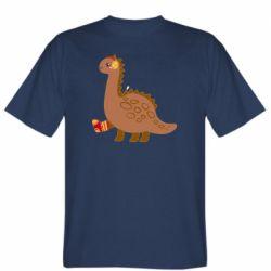Мужская футболка Dinosaur in sock