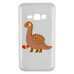 Чехол для Samsung J1 2016 Dinosaur in sock