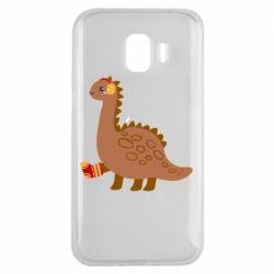 Чехол для Samsung J2 2018 Dinosaur in sock