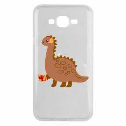 Чехол для Samsung J7 2015 Dinosaur in sock