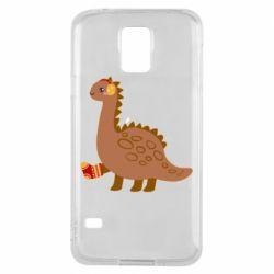 Чехол для Samsung S5 Dinosaur in sock