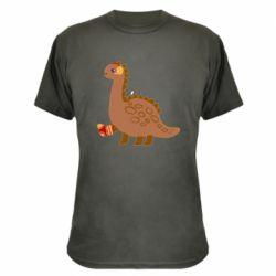 Камуфляжная футболка Dinosaur in sock