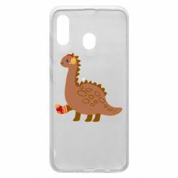 Чехол для Samsung A20 Dinosaur in sock