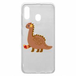 Чехол для Samsung A30 Dinosaur in sock