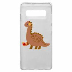 Чехол для Samsung S10+ Dinosaur in sock