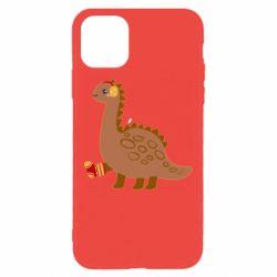 Чехол для iPhone 11 Pro Max Dinosaur in sock
