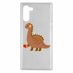 Чехол для Samsung Note 10 Dinosaur in sock