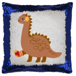 Подушка-хамелеон Dinosaur in sock