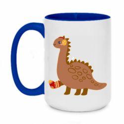 Кружка двухцветная 420ml Dinosaur in sock