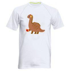 Мужская спортивная футболка Dinosaur in sock