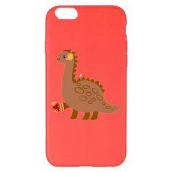 Чехол для iPhone 6 Plus/6S Plus Dinosaur in sock
