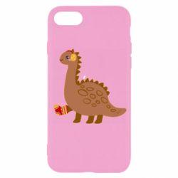 Чехол для iPhone 7 Dinosaur in sock