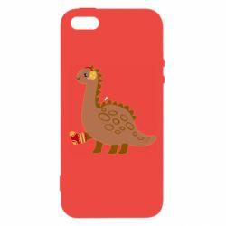 Чехол для iPhone5/5S/SE Dinosaur in sock