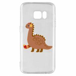 Чехол для Samsung S7 Dinosaur in sock