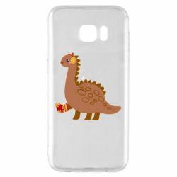 Чехол для Samsung S7 EDGE Dinosaur in sock