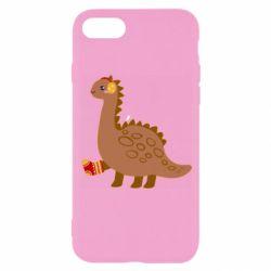 Чехол для iPhone 8 Dinosaur in sock
