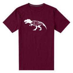 Мужская стрейчевая футболка Dinosaur text
