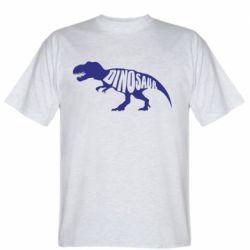 Мужская футболка Dinosaur text