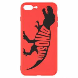 Чехол для iPhone 7 Plus Dinosaur text