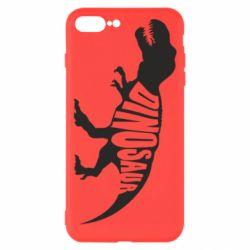 Чехол для iPhone 8 Plus Dinosaur text