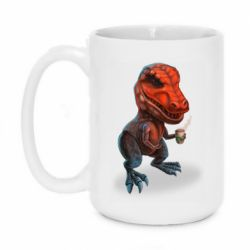 Кружка 420ml Dinosaur with coffee