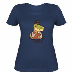 Жіноча футболка Dinosaur with tea