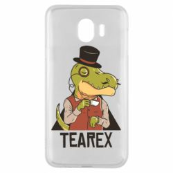Чохол для Samsung J4 Dinosaur with tea