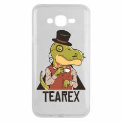 Чохол для Samsung J7 2015 Dinosaur with tea