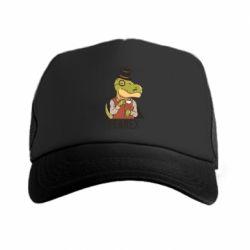 Кепка-тракер Dinosaur with tea