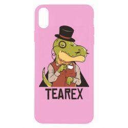 Чохол для iPhone Xs Max Dinosaur with tea
