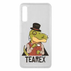 Чохол для Samsung A7 2018 Dinosaur with tea