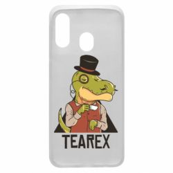 Чохол для Samsung A40 Dinosaur with tea