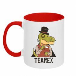 Кружка двоколірна 320ml Dinosaur with tea