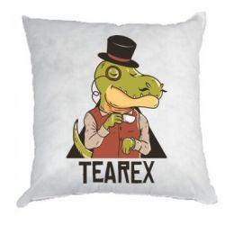 Подушка Dinosaur with tea