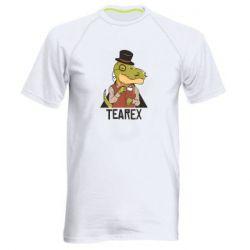 Чоловіча спортивна футболка Dinosaur with tea