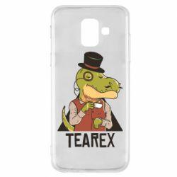 Чохол для Samsung A6 2018 Dinosaur with tea