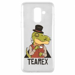 Чохол для Samsung A6+ 2018 Dinosaur with tea