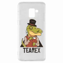 Чохол для Samsung A8+ 2018 Dinosaur with tea