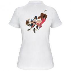 Женская футболка поло Диппер и Мэйбл