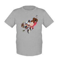 Детская футболка Диппер и Мэйбл - FatLine