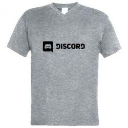 Чоловіча футболка з V-подібним вирізом Discord