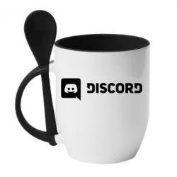 Кружка з керамічною ложкою Discord