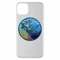Чехол для iPhone 11 Pro Max Diving and the underwater world