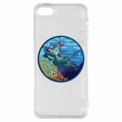 Чехол для iPhone5/5S/SE Diving and the underwater world