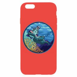 Чехол для iPhone 6/6S Diving and the underwater world