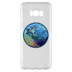 Чехол для Samsung S8+ Diving and the underwater world